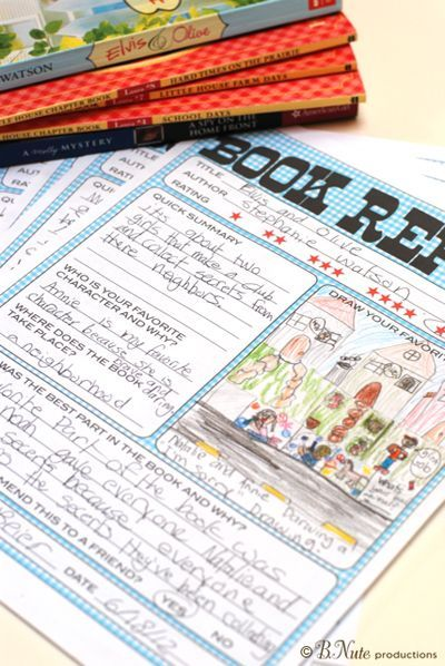 Must do! Free Printable Kids Book Report Worksheet. Good for summer reading!
