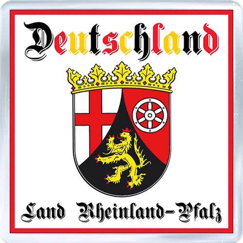Acrylic Fridge Magnet: Germany. Coat of Arms of Rhineland-Palatinate (Land Rheinland-Pfalz)