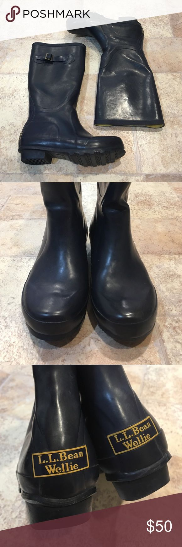 | L.L Bean | Navy Wellie Rain Boots In excellent condition. Only worn a few times. Super adorable and perfect for those rainy days, fall and winter! L.L. Bean Shoes Winter & Rain Boots