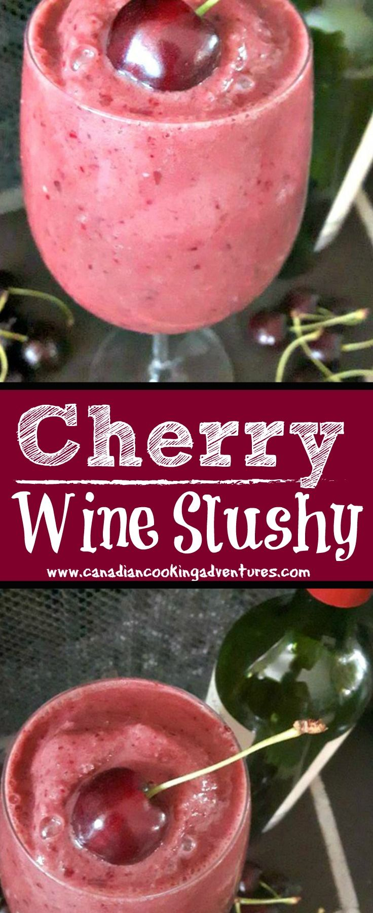 Red Wine Cherry Slushies Recipe Wine Slushie Recipe Slushie Recipe Wine Recipes Drink
