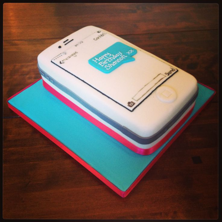 White IPhone Text Message Cake