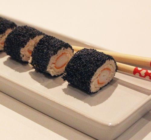 Roulés de pain de mie surimi façon Maki