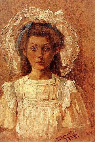 Osman Hamdi Bey Beyaz Entarili Kız ,1908