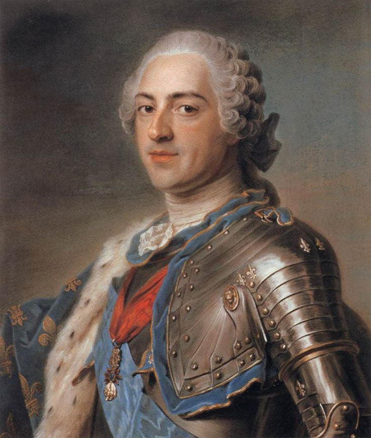 Marie Antoinette's Playhouse:A portrait of Louis XV by Maurice Quentin de la Tour, currently hanging in The Louvre, Paris. Painted inthe first half of 18th century.https://en.wikipedia.org/wiki/Maurice_Quentin_de_La_Tour