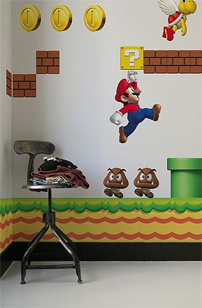 Brand: Blik. Title: The Nintendo New Super Mario Bros Re-Stik Wall Decal. Price: $75. Purchase this decal here: http://www.karmaloop.com/product/The-Nintendo-New-Super-Mario-Bros-ReStik-Wall-Decal/120461Ideas, Wall, Kids Room, Wall Decals, Supermario, Kid Rooms, Super Mario Brother, Wall Stickers, Super Mario Bros