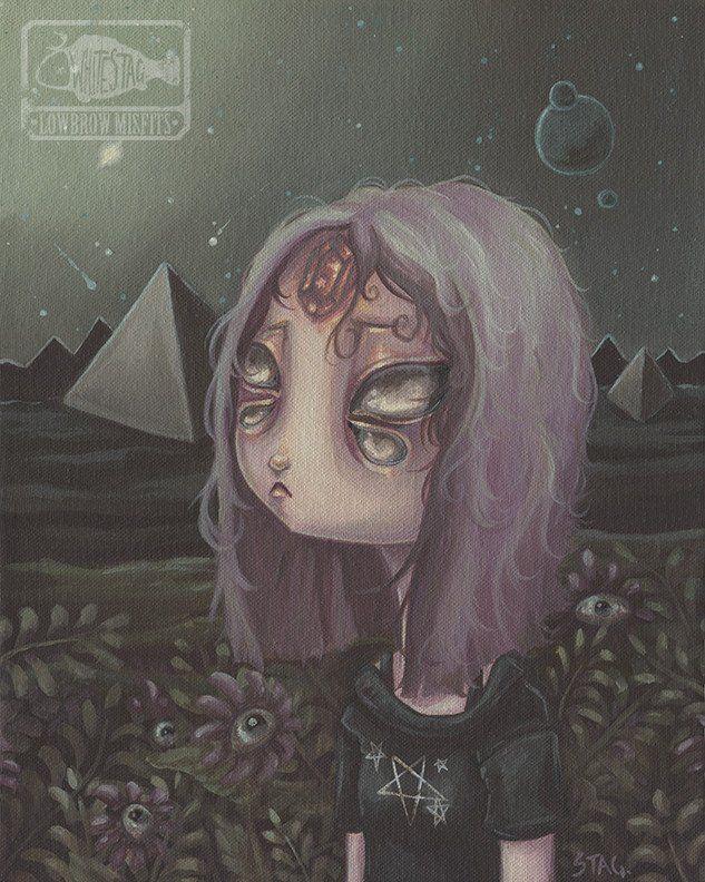Cosmic Witch - Alien girl print