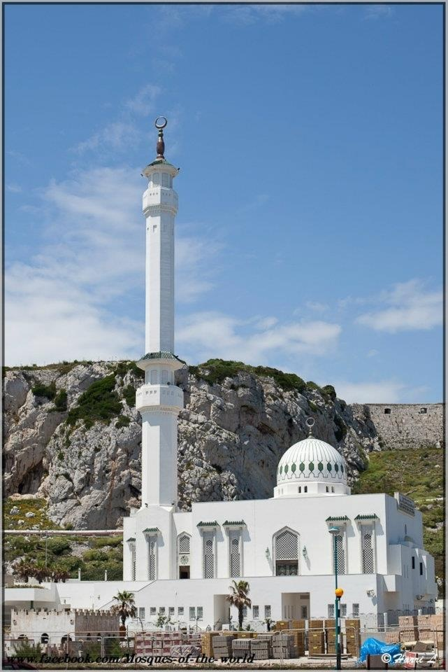 The Ibrahim-al-Ibrahim Mosque, also known as the King Fahd bin Abdulaziz al-Saud Mosque or the Mosque of the Custodian of the Two Holy Mosques, is a mosque located at Europa Point in the British overseas territory of Gibraltar, a peninsula connected to southern Spain. The mosque faces south towards the Strait of Gibraltar and the African country of Morocco just a few miles away.