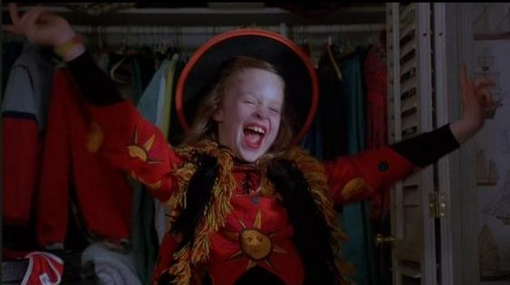 "When Dani spies on Max, jumps out of his closet, and mocks him by saying: ""I'm Allison… Allison… kiss me, I'm Allison!"" 
