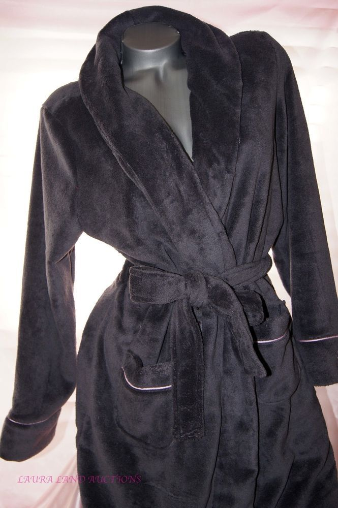 XL~Victoria Secret WOMENS BATH ROBE LONG PLUSH & COZY~ SPA POOL WRAP~ GRAY~NWT #VictoriasSecret #RobesSpaWrap