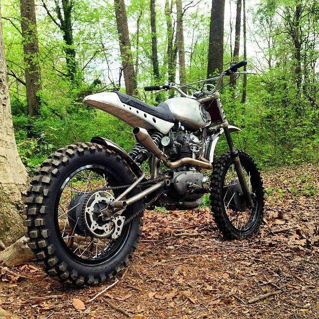 Custom dirt bike, based on a vintage Ducati single by Brian Fuller