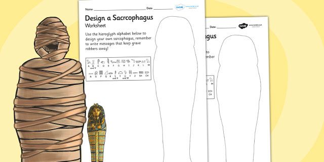 KS2 Ancient Egypt- Design a Sarcophagus Worksheet