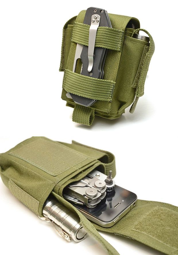 Skinth Storage Solutions Cool 'guy' phone holder with extra room for your charger and your leatherman.
