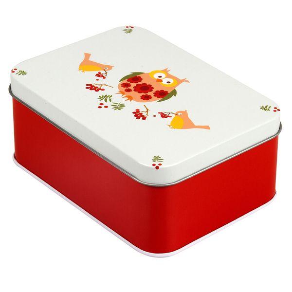 Lunchbox Vintage owls *** Retro blikken lunchboxen naar het design van de Noorse Ingrid Eroy Fagervik. Blafre staat bekende om zijn originele prints en producten. Steek je boterhammetjes in deze leuke lunchboxen of gebruik ze als opbergdoosje. Meerdere designs beschikbaar bij Meneer Snor!