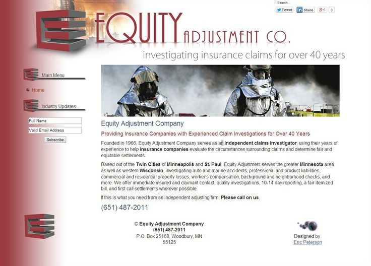My latest website went live for Equity Adjustment Company