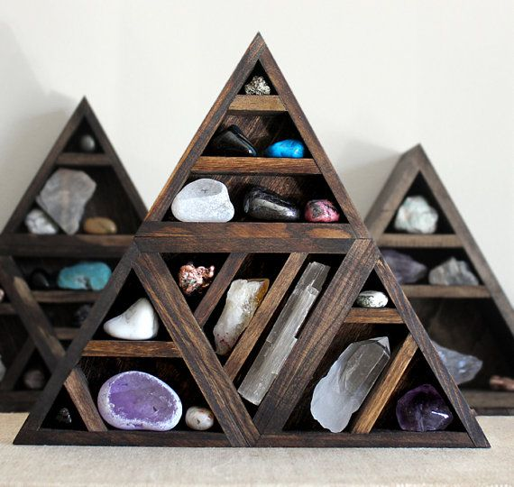 One Of A Kind Handmade Triangle Wood Wall Shelf With