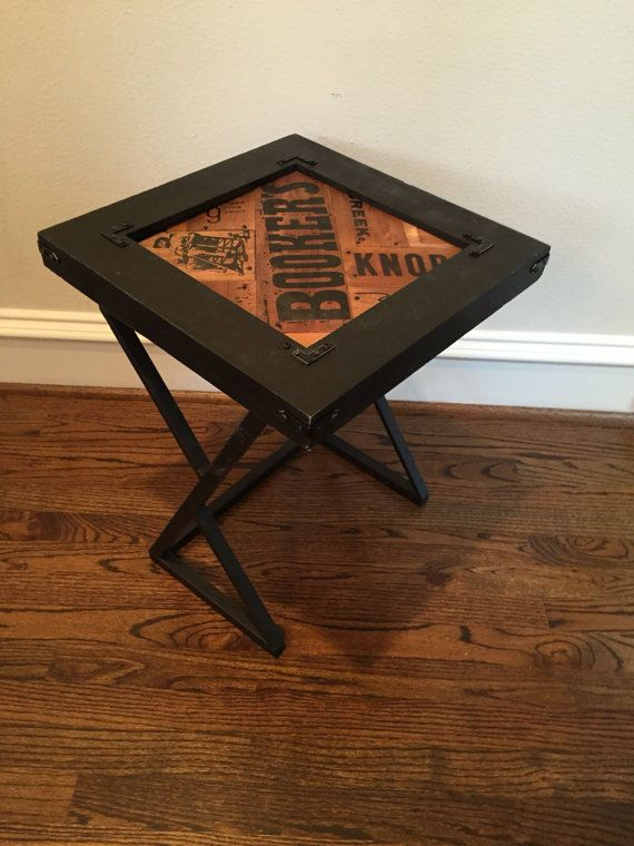 Kentucky Bourbon Whiskey Top Corner Accent Table Side Table