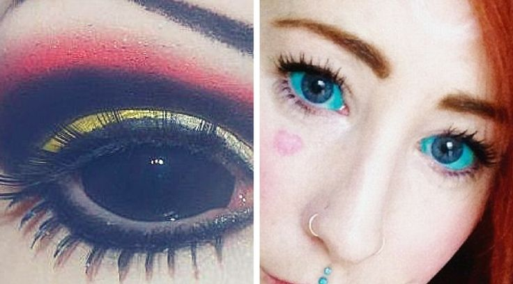 Scleral tattoo is an eyeball tattooing done to the whites of your eyes! Ink is injected directly to the white part of the eye, to the protective outer layer that extends from the cornea to the optic nerve…. Oh no… scary! www.wickedbeauty.com.au #eyeball #eyeballtattoo #scleraltattoo #eyetattoo #wickedbeauty