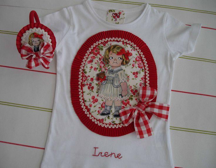 Camiseta y diadema muñequita Irene