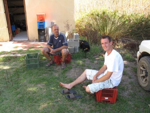 Nico and fellow potter Martin Swart from Bredasdorp