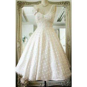 Wedding Dress 50s Style Polka Dots