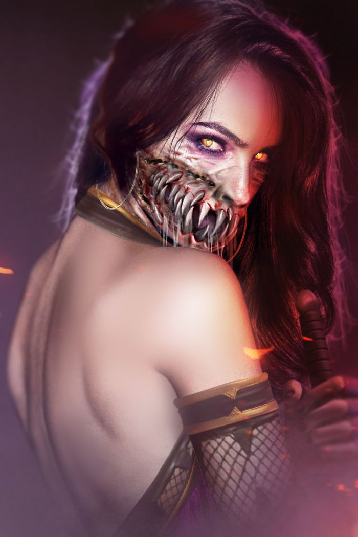 Gal Gadot Mileena Mask Off Filmes Looks Personagens