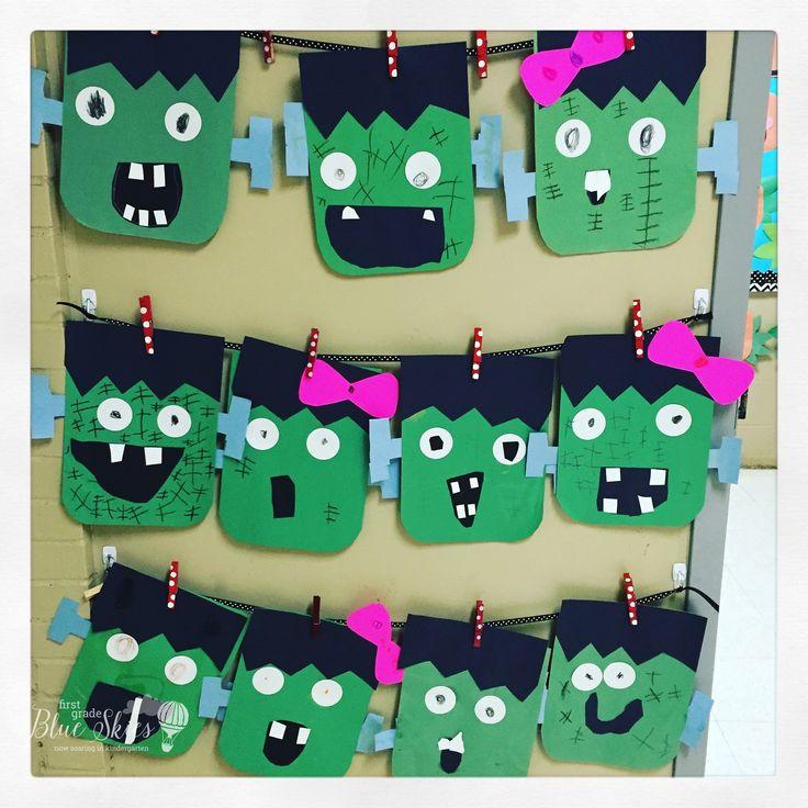 Frankenstein Halloween Craft Freebie - First Grade Blue Skies