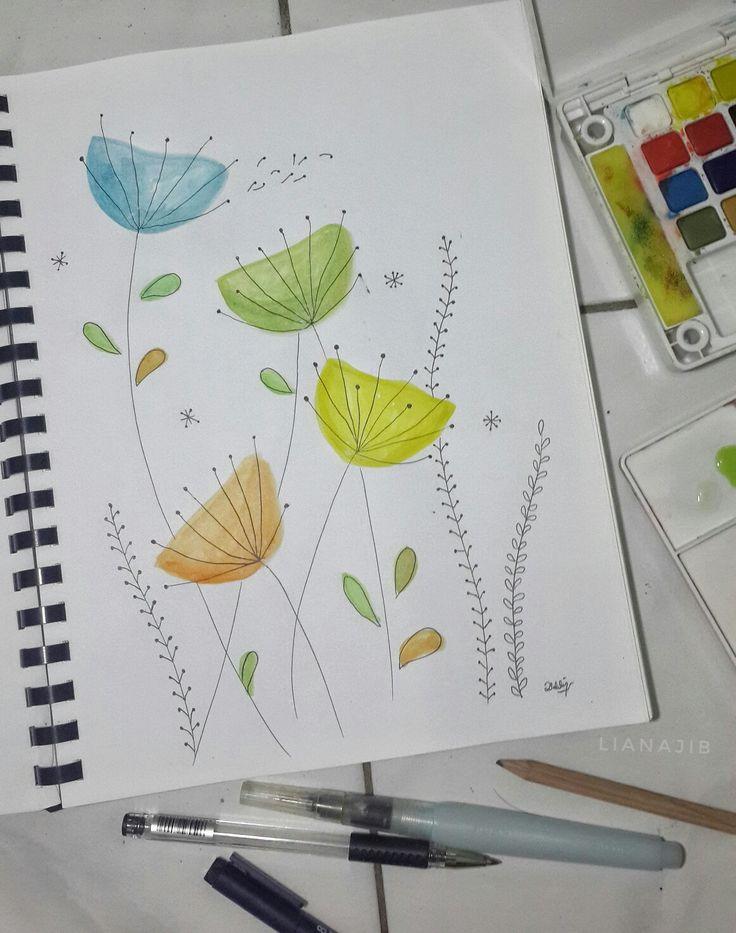 Inspired from dandelion Kirsten Sevig.. My watercolor exercise..