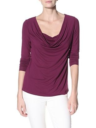Cullen Women's Drape Neck Top (Dark Purple)