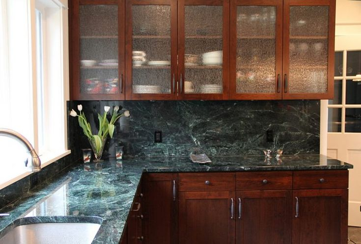 unique green and blue kitchen countertop