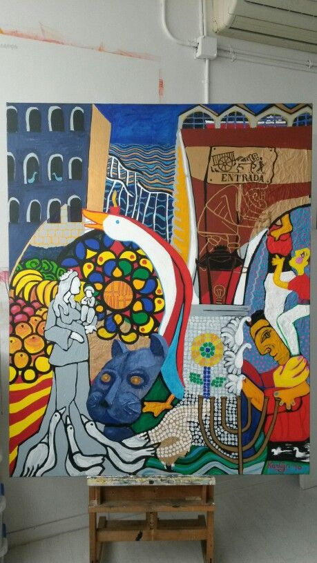 District Ciutat Vella,  Barcelona Art Serie,  160x130cm, artist Karlijn Surminski