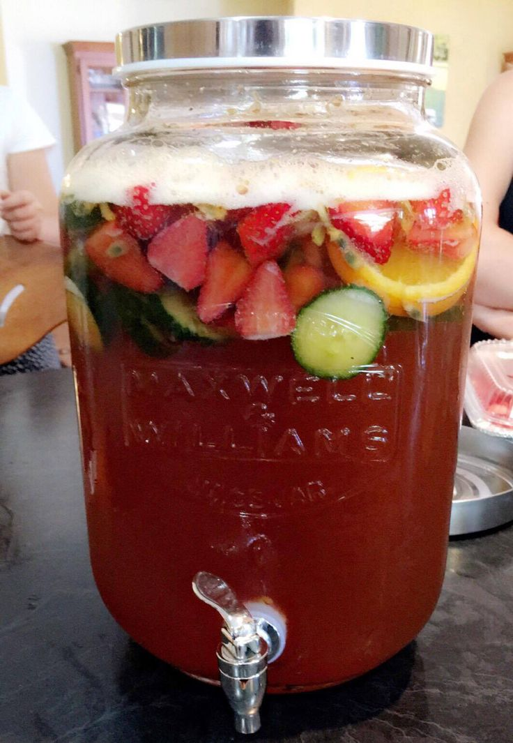 Pimms Punch - 1 x Bottle of Pimms, 3 Bottles of Ginger Ale, Strawberries, Cucumber, Orange and Passionfruit to Garnish