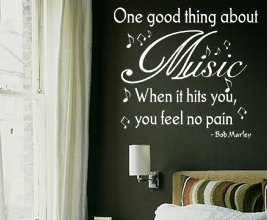Vinyl Wall Sticker Decal Art Inspirational Decoration Music Bob Marley Decor S36. $15.97, via Etsy.