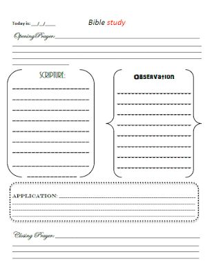 SOAP Bible Study : FREE Printable  Simplicity of Southern Blog