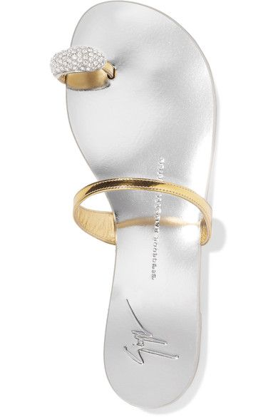 Slight heel Silver and gold leather Slip on Made in ItalySmall to size. See Size & Fit notes.