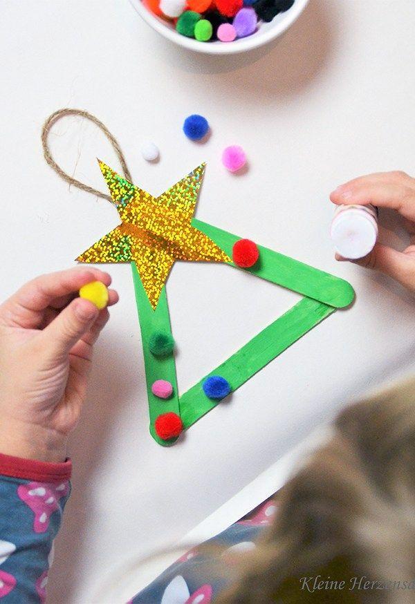 Oh Tannenbaum – Tannenbaum mit Kindern basteln – 3 einfache DIY-Ideen – ♥ Mama Kreativ ♥  Mamablog – DIY, Basteln, Kochen und Leben mit Kindern