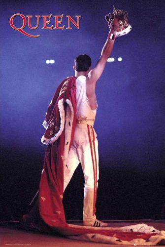 Queen Freddie Mercury CROWN Concert Poster