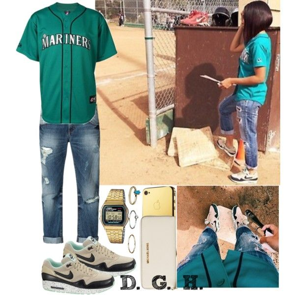 Mariners Baseball Game., created by dopegenhope on Polyvore
