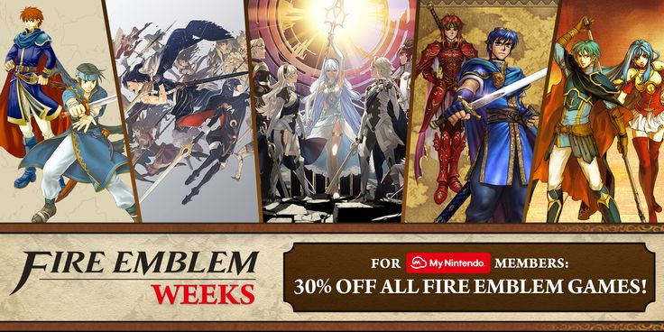 Europe - Nintendo eShop sale: Fire Emblem Weeks 2017 Sale   You can download new games applications and other content to your Wii U or Nintendo 3DS family system directly from Nintendo eShop on your console or via this website. This week a number of games from the Fire Emblem series are on sale for My Nintendo users as part of our Fire Emblem Weeks 2017 sale. Whats more with My Nintendo you can receive Gold Points for all purchases made in Nintendo eShop on your system or via this website…