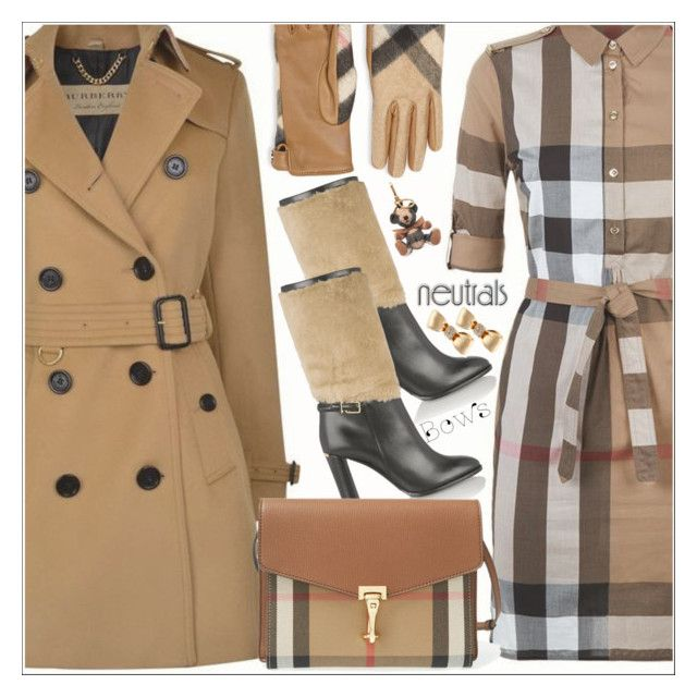 """""""NEUTRAL//BOWS"""" by shoaleh-nia ❤ liked on Polyvore featuring Burberry and Mimi So"""