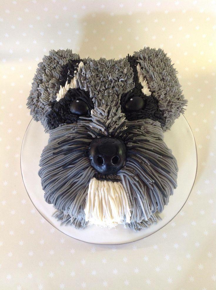 Schnauzer Cake In 2019 Puppy Cake Puppy Birthday Cakes