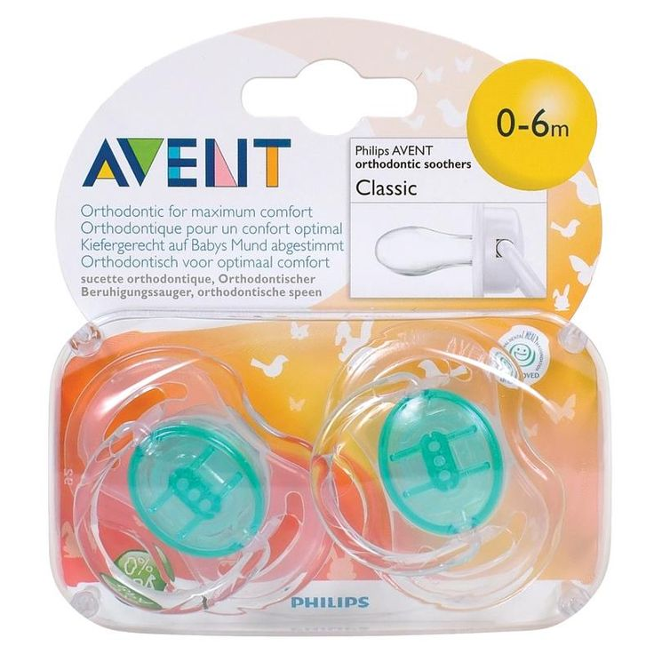 Avent Soothers Translucent 0-6 Months $8 from Chemist Warehouse