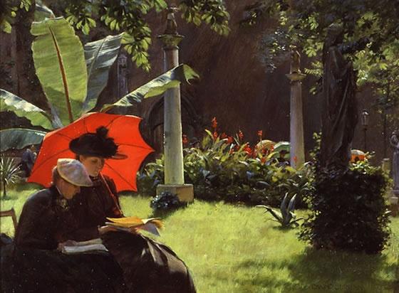 Mujer Leyendo El Libro En Blanco En El Jardín: Mejores 31 Imágenes De La Lectura En La Pintura En