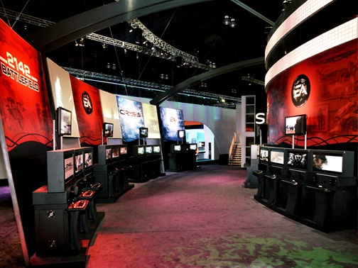 Modular Exhibition Stand Zone : Trade show booth games electronic arts pinterest