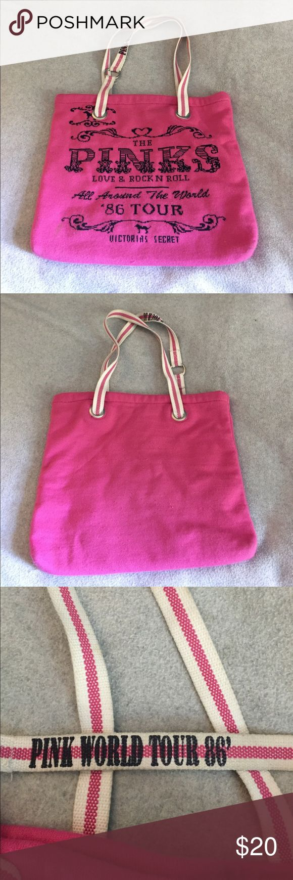PINK '86 Tour Tote Bag 100% Acrylic material, in great condition though the material has some pulls PINK Victoria's Secret Bags