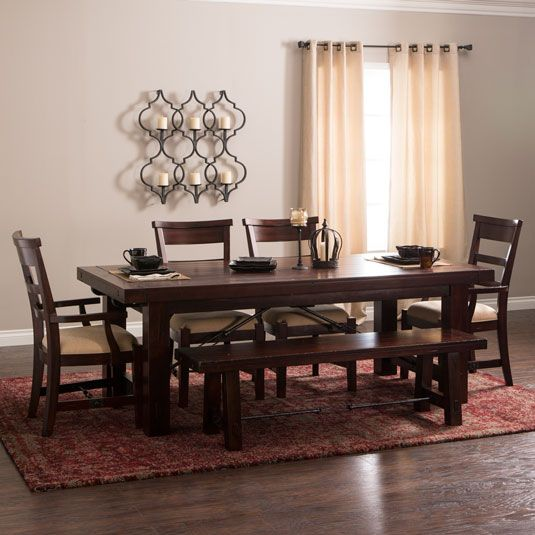 Vineyard Table 2 Arm Chairs 2 Side Chairs And 1 Bench By