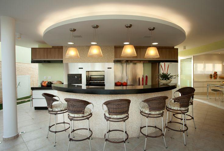 15 reas de churrasco contempor neas integradas cozinha for Fotos de casas modernas brasileiras
