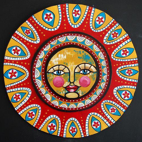 Folk Art Sun - Full   momentofstars.net