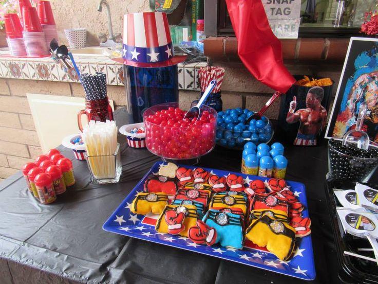 Apollo Creed Usa Side Rocky Balboa Birthday Party