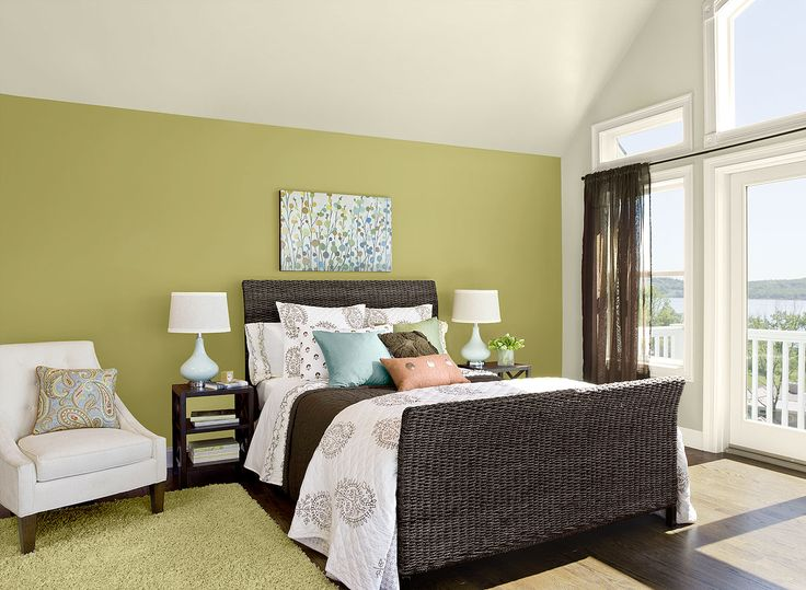 Green Bedroom Color Schemes 112 best bedroom sanctuaries images on pinterest | benjamin moore