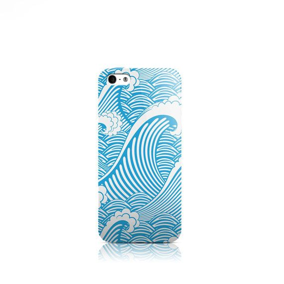 Blue Waves iPhone 6 Plus case iPhone 5 case iPhone by VDirectCases